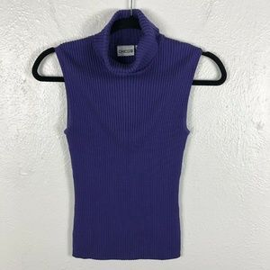 Chico's Size Small 4 0 Turtleneck Sweater Purple